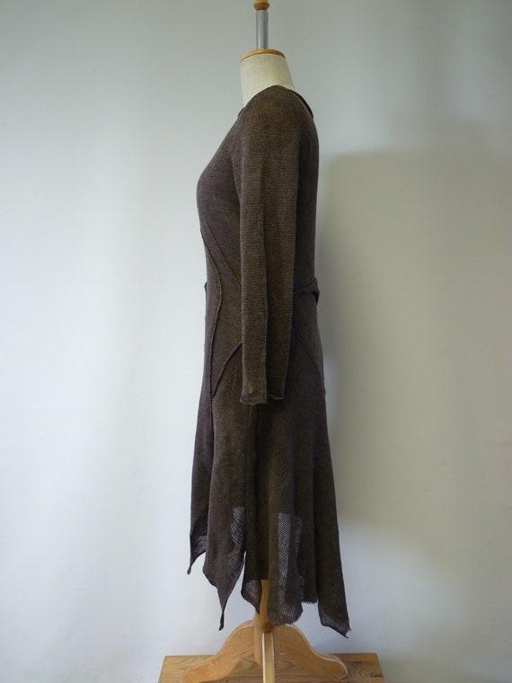 linen Artsy brown M dress size q5BT5a