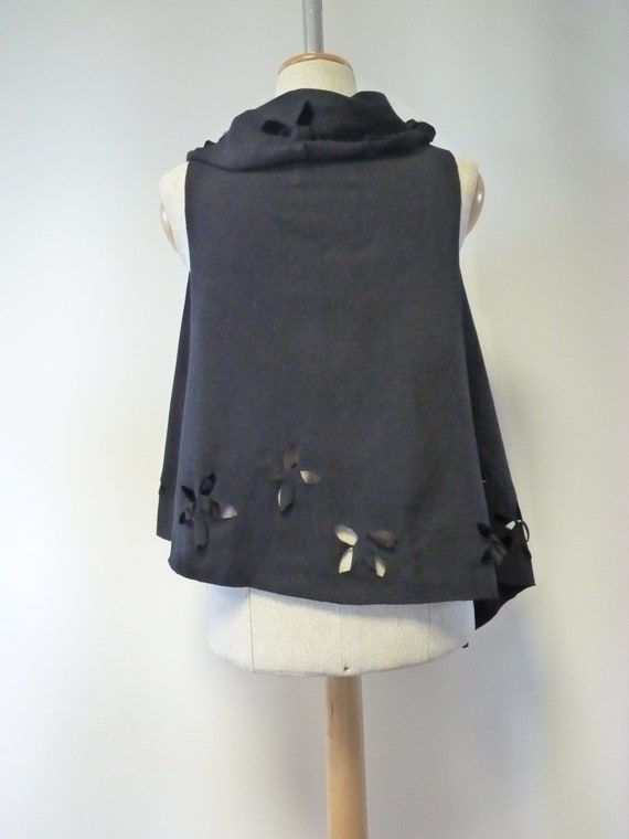 black M S cotton size vest Artsy 70qRCwR