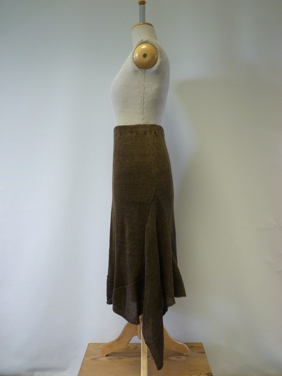 M price brown The linen hot size skirt SXgqP