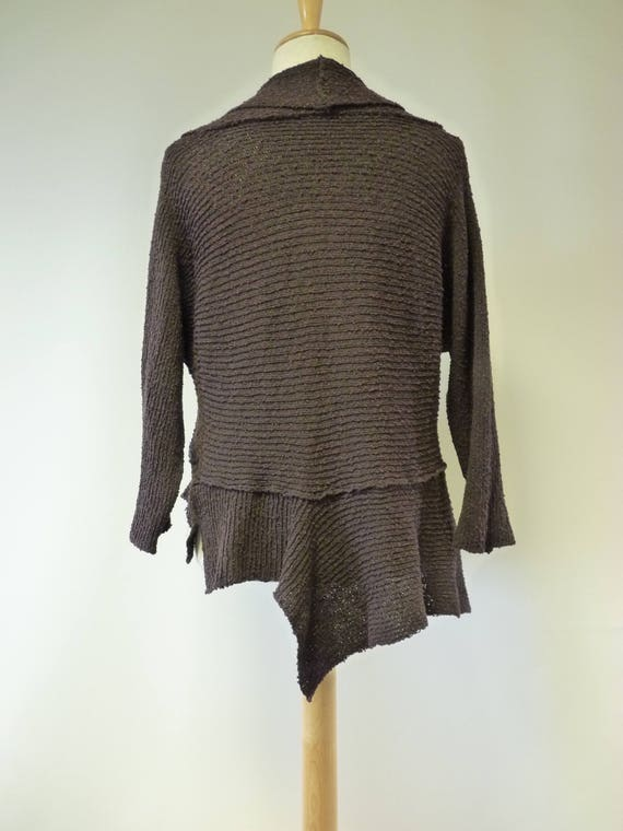 price boucle cardigan L sample size one Only The asymmetrical chocolate hot RSwxIW5qP