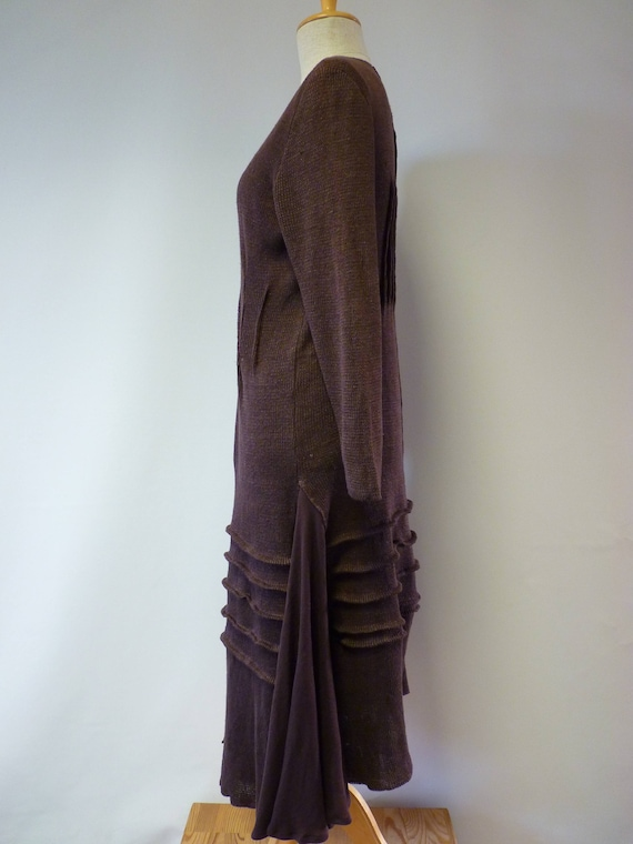 hot XXL size linen brown Knitted price XL The dress 4daq1gnqO