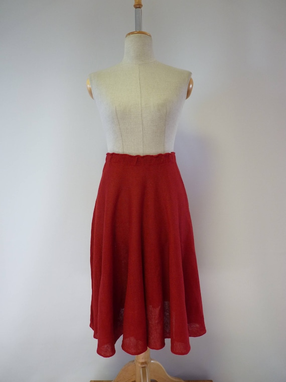The price hot size skirt M red Casual linen rwr5nUqC