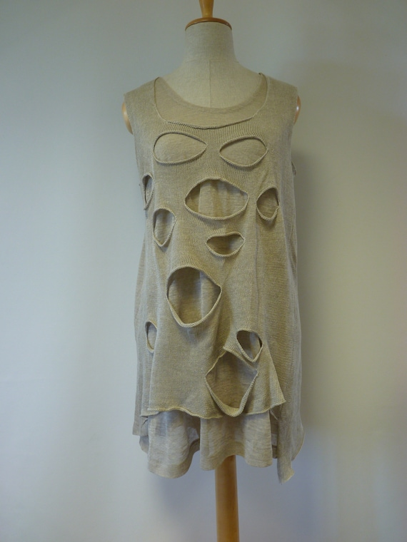 of top rock style Summer taupe Made linen pure XL size xTwPUqScUH