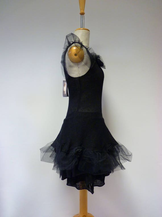 style black tulle size Exceptional S Gothic linen with dress xZpZw8R7