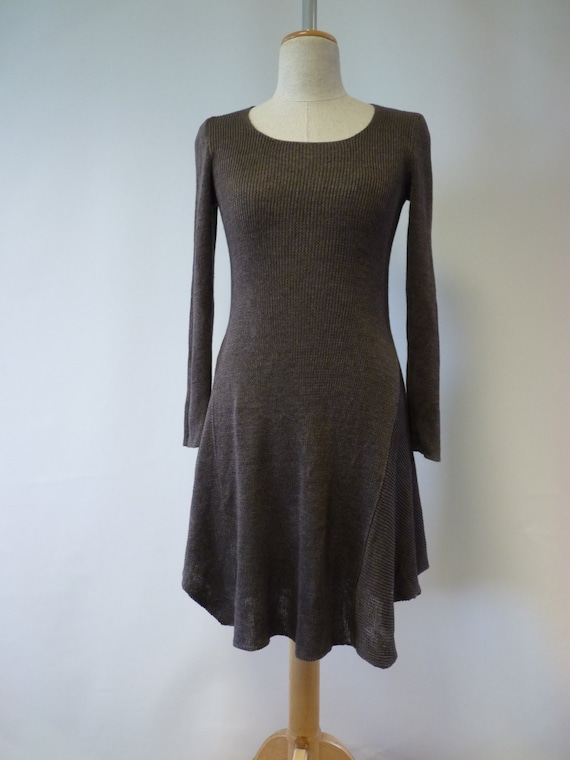 colour M minimalistic chocolate size fashion Handmade Casual dress and wOHACfOq