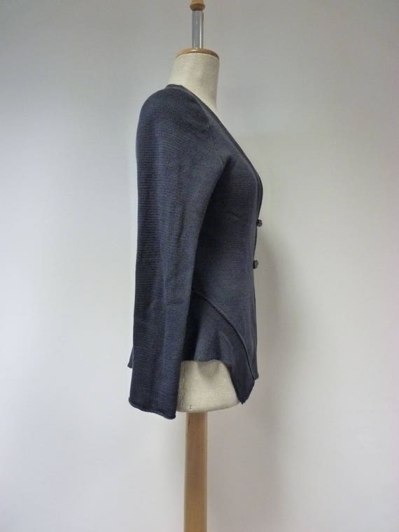 of wool Made size soft M minimalistic pearl warm smoked cardigan Casual italian RP8fwW
