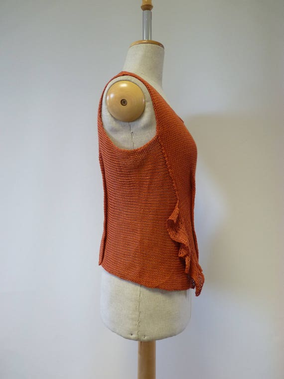 sample linen M Only orange size one Summer top t0w5Aq