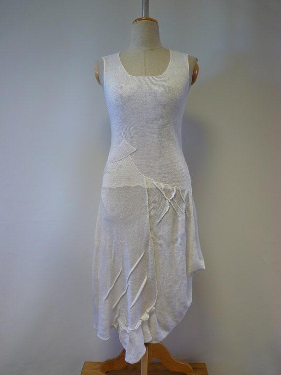 Summer white romantic size M dress linen T4vwBR