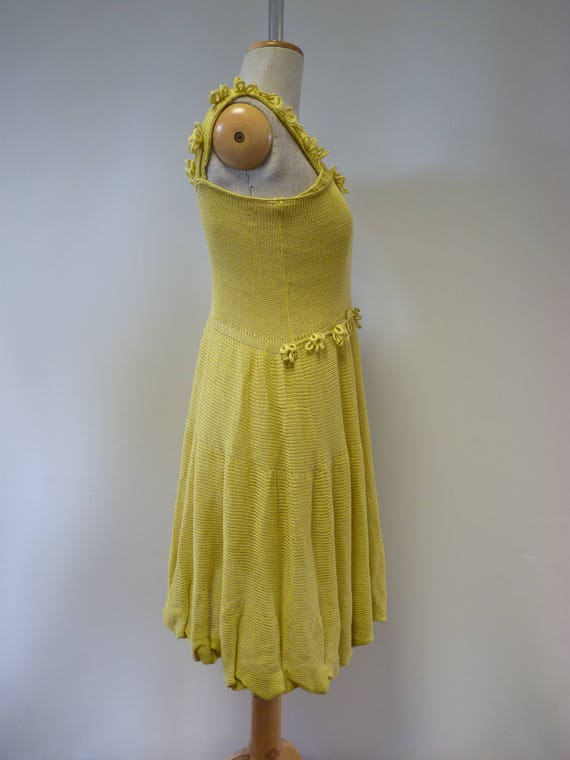price Summer size girlish linen hot yellow The S dress 15qgxBxw