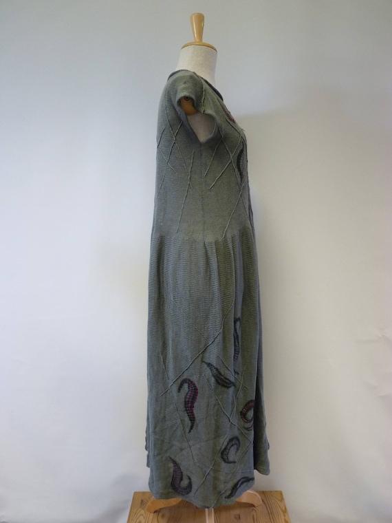 L Boho olive price felted decoration with transparent size folk dress Special linen nT1Wp
