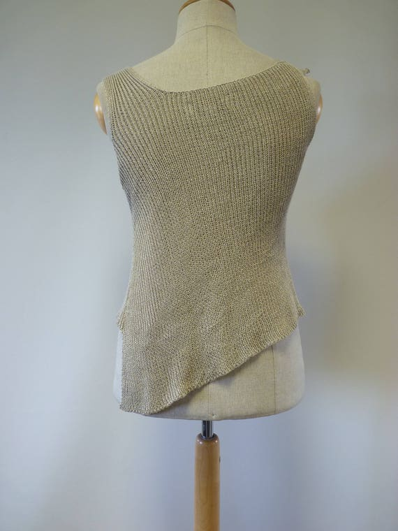 of taupe Made feminine size pure Summer linen L top RfqWx