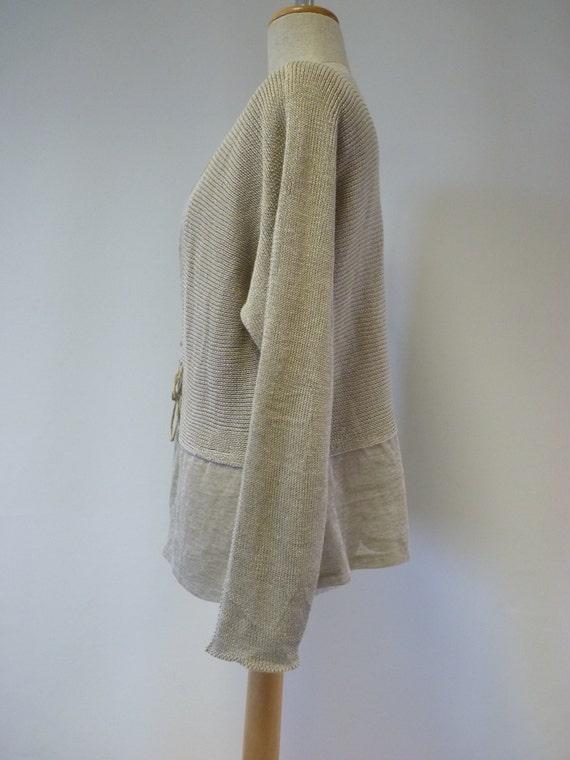 a amazing linen Feminine cardigan natural kind One size of M nPUWTq1RWw