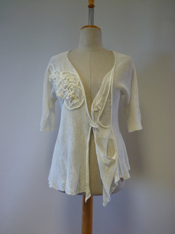 Off Only one vest sample white size linen M Swxqn8rSF