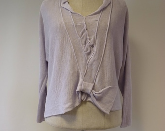 Special price. Handmade lilac linen sweater, L size.