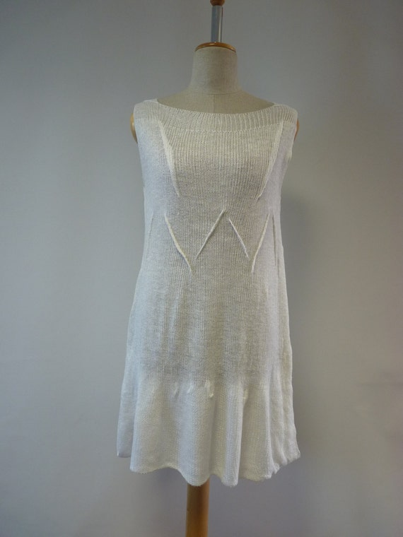 M linen white handmade Casual size tunic IpOY1
