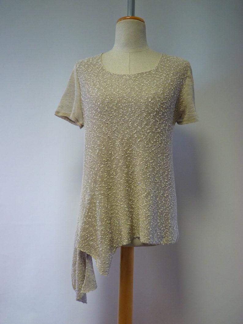 Essential beige boucle blouse M size.
