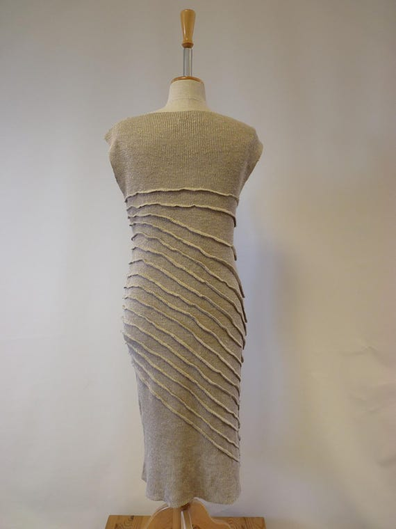 pure Boho M dress natural size Handmade linen style Sq7P5qw