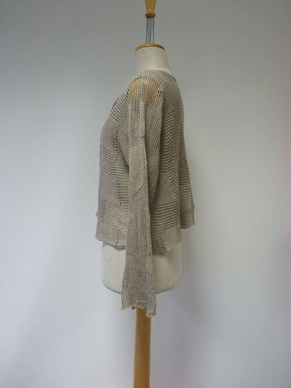 M knitted price size cardigan taupe linen pure Special Made of ZqTPw7RWRH