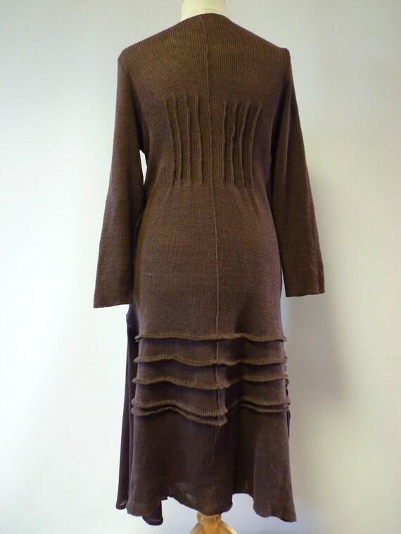 hot XXL size linen brown Knitted price XL The dress 4daq1gnqO