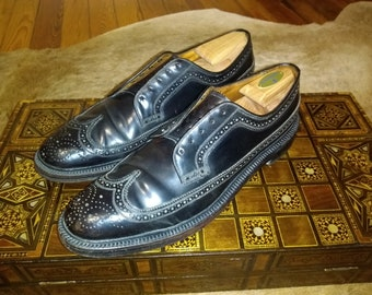 f6fd70ce56a6f Florsheim Imperial Shell Cordovan Longwing LWB Mens Shoes 12 A Model 92612  Black Excellent Original Condition V-cleat Pre-1973 Gunboat