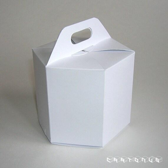 Sechseckigen Karton Geschenk-Verpackung mit Griffen. | Etsy