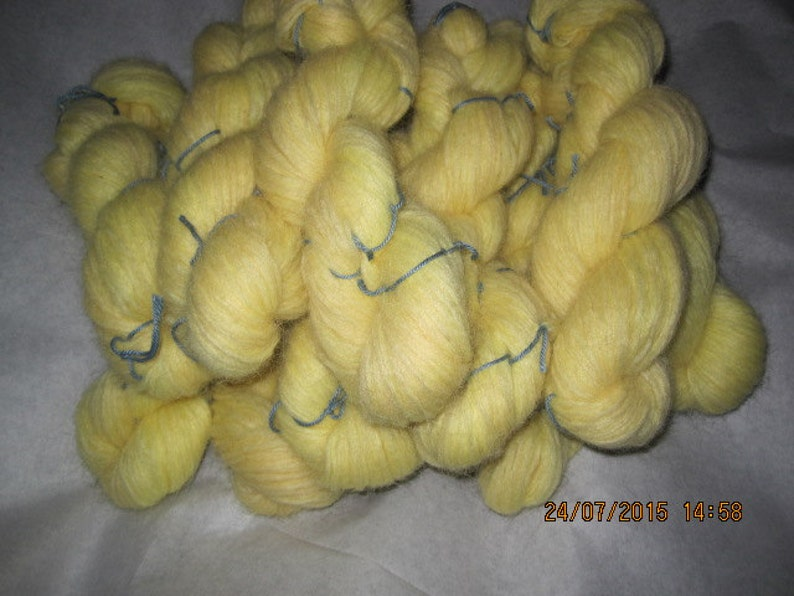 Icelandic pure wool hand dyed with Lupinus nootkatensis-070515-2