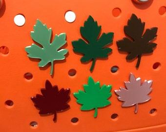Fall Leaf Bogg Bag Charms-Simply Southern Bag Charm-Bogg Bag Bits-Leaf Bogg Bag Charms-Leaf Bogg Bag-Beach Bag Charms-Maple Leaf-Oak Leaf