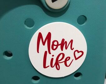 Mom Life Bogg Bag Charms-Mom Life Bogg Bits-Mom Life Bag Charm-Bag Accessory-Bogg Bag Buttons-Mom Life-Bogg Bag Accessories