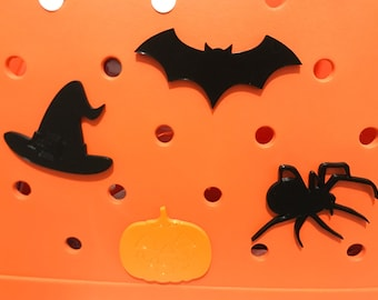 Halloween Bogg Bag Charms-Bat Bogg Bag Charm-Bogg Bag Bits-Pumpkin Bogg Bag Charms-Witches Hat Bogg Bag Charm-Spider Bogg Bag Charm