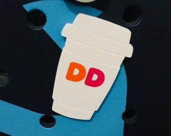 Dunkin Bogg Bag Charms-Coffee Cup Bogg Bag Charm-Coffee Cup Bogg Bag Bits-DD Coffee Cup-Coffee Bogg Bag Bit Charm