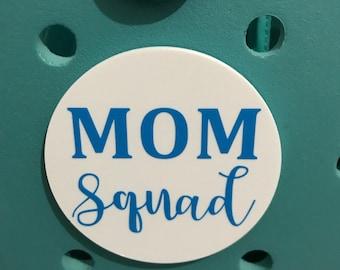 Mom Squad Bogg Bag Charms-Mom Squad Bogg Bits-Mom Squad Bag Charm-Bag Accessory-Bogg Bag Buttons-Custom Bogg Bag Charms-Bogg Bag Accessories