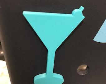 Martini Glass Bogg Bit-Martini Glass Bogg Bag Charm-3D Printed Bogg Bit-Martini Bogg Bag Bits