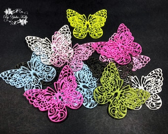 Butterfly Beads, Insect Jewelry, Polymer Clay Jewelry, Polymer Clay Beads, Polymer Butterfly Lace, Wedding Butterfly, Clay Butterfly