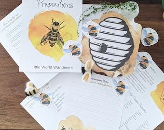 Preposition Bee Activity