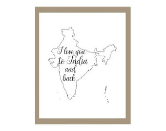 To India and Back Print, India Adoption Print, India Missionary Print, India Print, Adoption Print