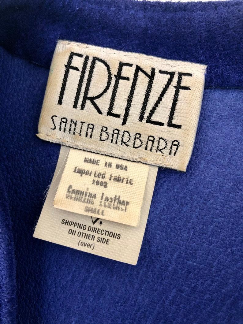 Vintage 1980\u2019s Electric Blue Suede Firenze Santa Barbara Dress