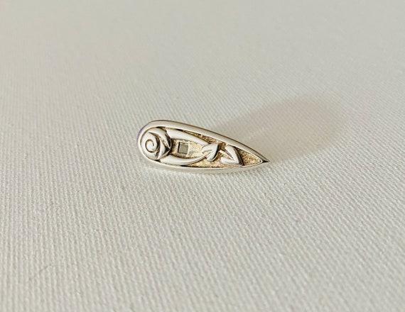 Vintage Sterling Silver Rose Brooch - Vintage Bro… - image 3