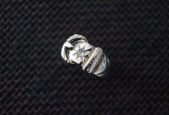 Vintage Sterling Silver Buckle Ring - Vintage Sil… - image 6