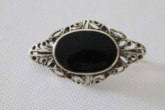 Vintage Sterling Silver Brooch - Vintage Silver Br
