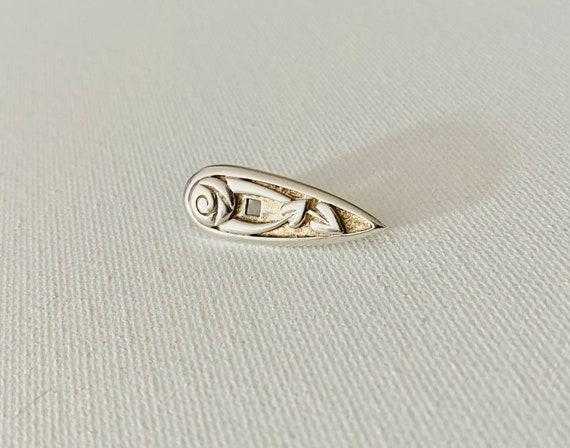 Vintage Sterling Silver Rose Brooch - Vintage Bro… - image 7