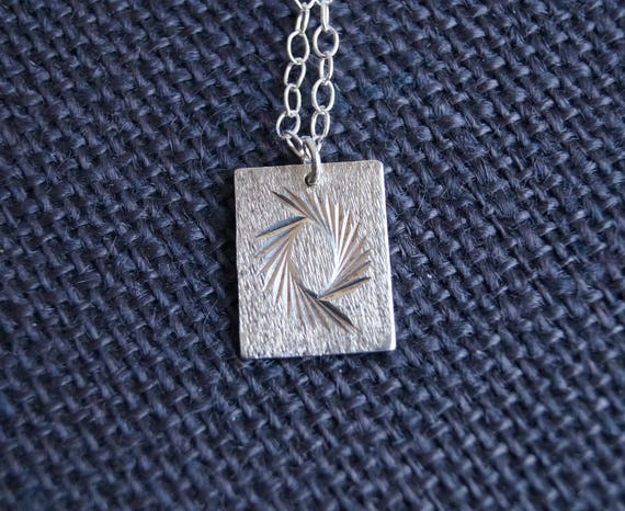 Vintage Sterling Silver Ingot with chain - Vintage