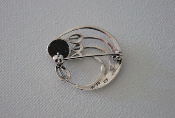 Vintage Sterling Silver Rose Brooch - Vintage Bro… - image 5