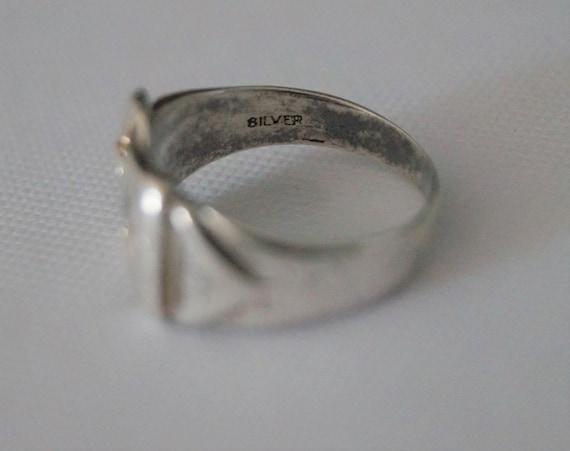Vintage Sterling Silver Buckle Ring - Vintage Sil… - image 8