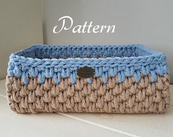 Diy Crochet Basket Etsy