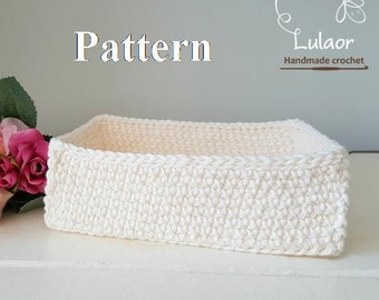 Pattern for crochet basket, reqtangle basket