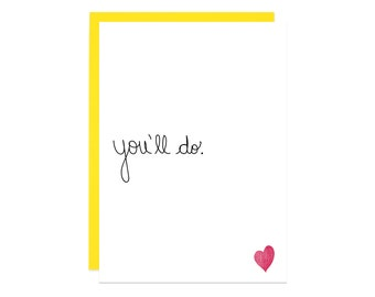 Funny Valentines Day Card for Him, Funny Valentine Card, Love Card for Her, Sarcastic Card, Printed Card, Valentine Greeting Card