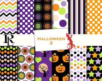 Halloween Digital Paper Pack - Halloween Digital Background - Paper background - Halloween paper pack - paper scrapbooking