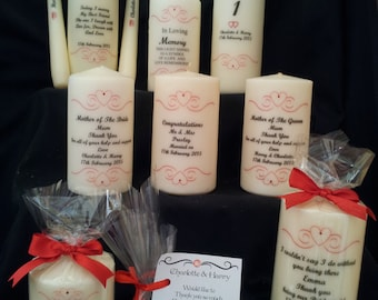 Wedding  Day Candle Packages