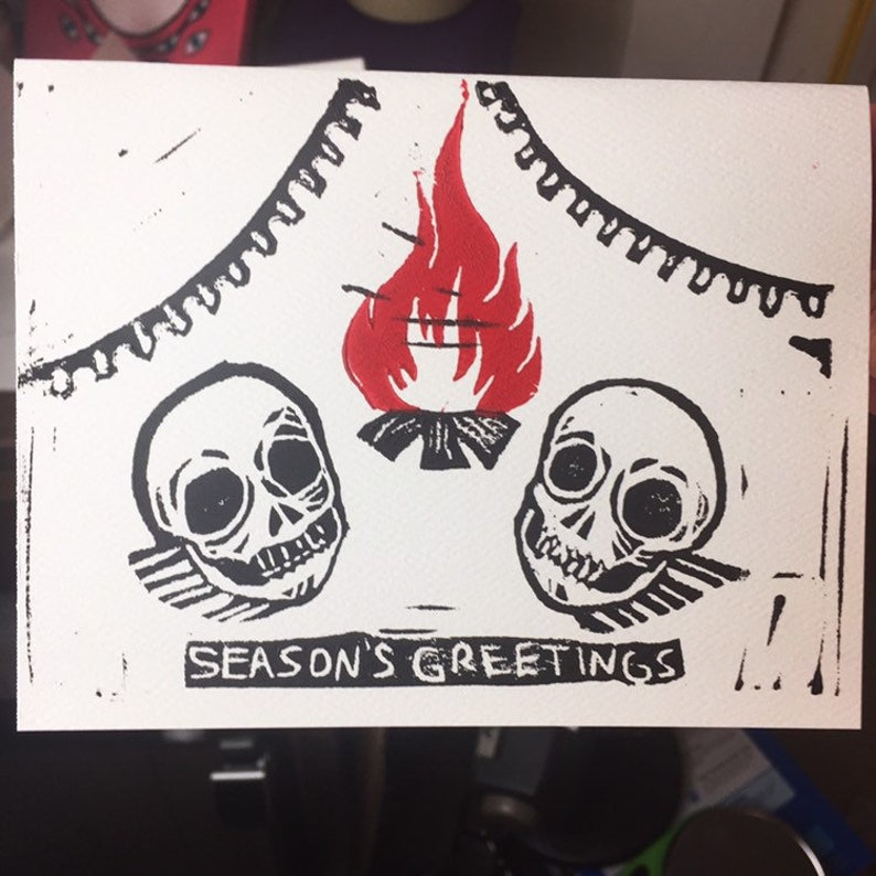 Seasons Greetings: Skulls on an Open Fire PRE-ORDER image 0
