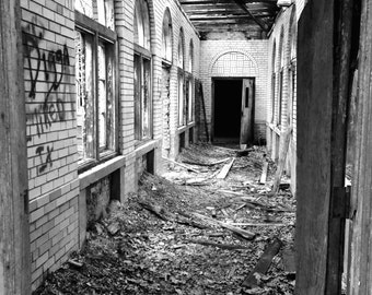The Hallway - Abandoned Building Photograph